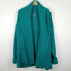 NWOT Free People Chunky Knit Open Front Cardigan